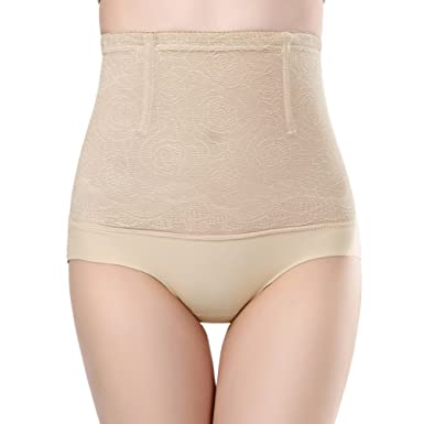 4e4f57d133f Queenral Women Breathable Slimming Underwear High Waist Seamless Firm Control  top Panties Apricot