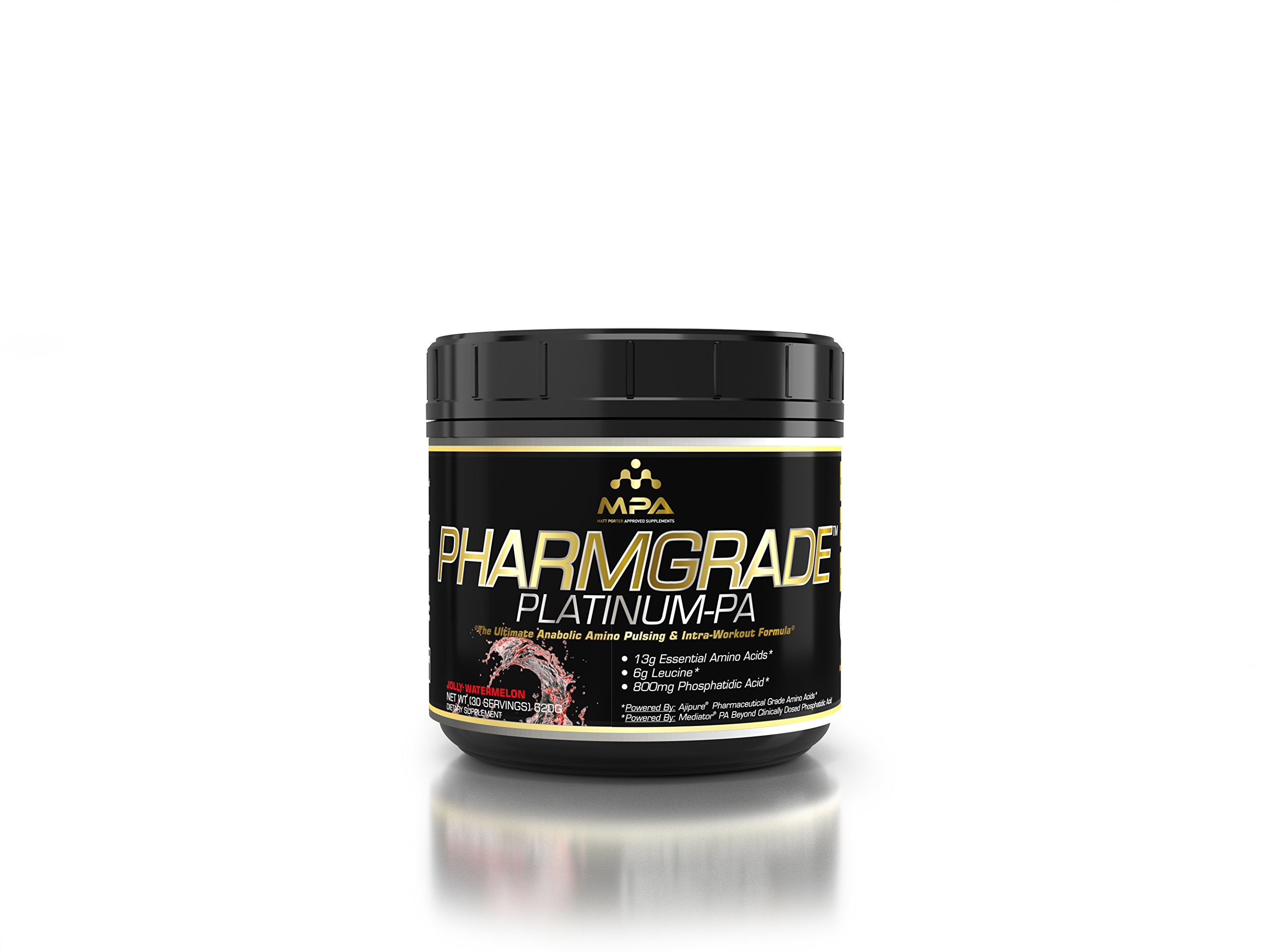 MPA Supps Pharmgrade Platinum-PA, Jolly Watermelon, Net WT (30 Servings) 620g