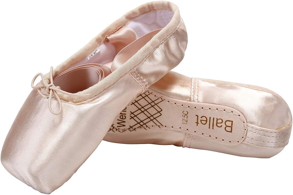 Women Ballet Shoes Soft Smooth Ballet Pointe Shoes Beautiful Girls Ballet Flats