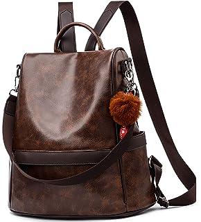 Anti-robo Mujer Mochila de Cuero de pu mochila de Bolsa de mano Mochilas Casual Bolsa de viaje…