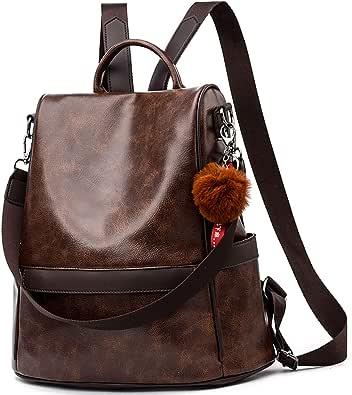 Anti-robo Mujer Mochila de Cuero de pu mochila de Bolsa de mano Mochilas Casual Bolsa de viaje Messenger Bag Backpack