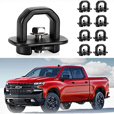 KAWELL 9 Pack Tie Down Anchors Truck Bed Side Wall Anchors Fits Chevy Silverado GMC Sierra Chevy Colorado GMC Canyon: Automotive