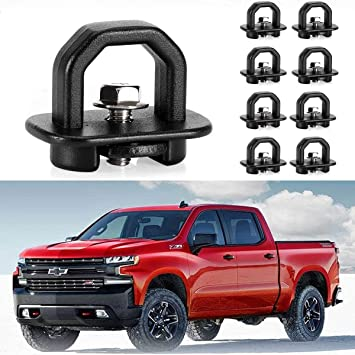 KAWELL 9 Pack Tie Down Anchors Truck Bed Side Wall Anchors Fits Chevy Silverado GMC Sierra Chevy Colorado GMC Canyon