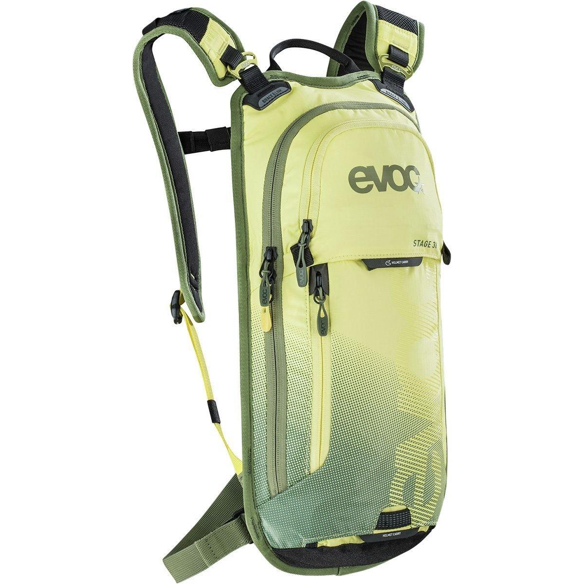Evoc yellow-lightオリーブステージ – with 2 Litre膀胱 – 3リットル水和パックWi (デフォルト、イエロー)   B073WDZQX1