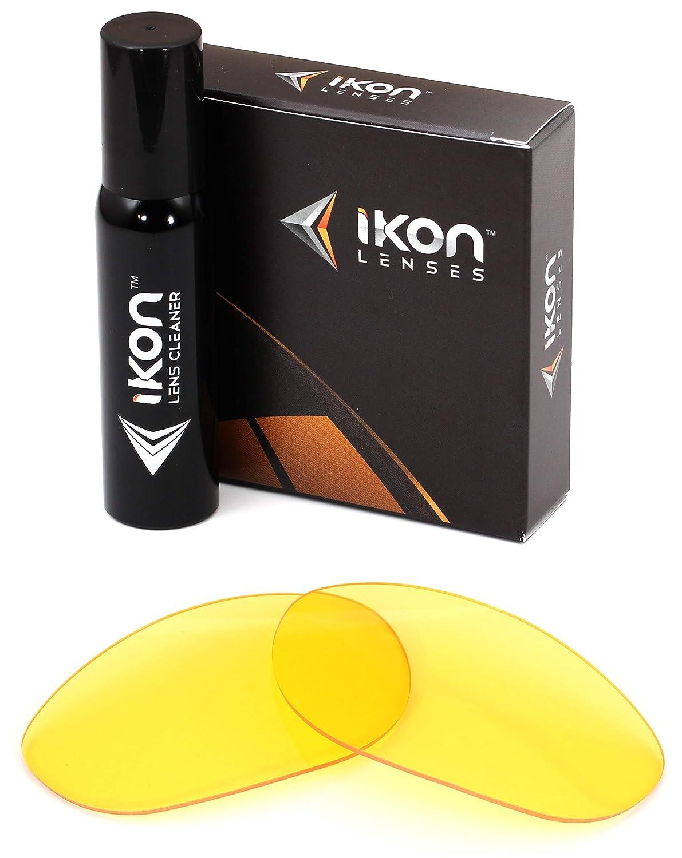 偏光Ikonイリジウム交換レンズOakleyストレートジャケット2007 Asianフィットサングラス – 複数のオプション  HD Yellow B019W5TPEU