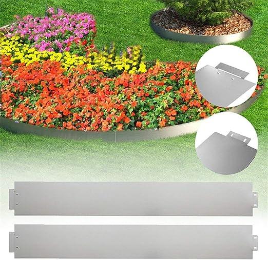 Aufun Borde para césped de Metal galvanizado 5 m x 14 cm 50 Piezas 100 cm x 14 cm (Largo x Alto): Amazon.es: Jardín