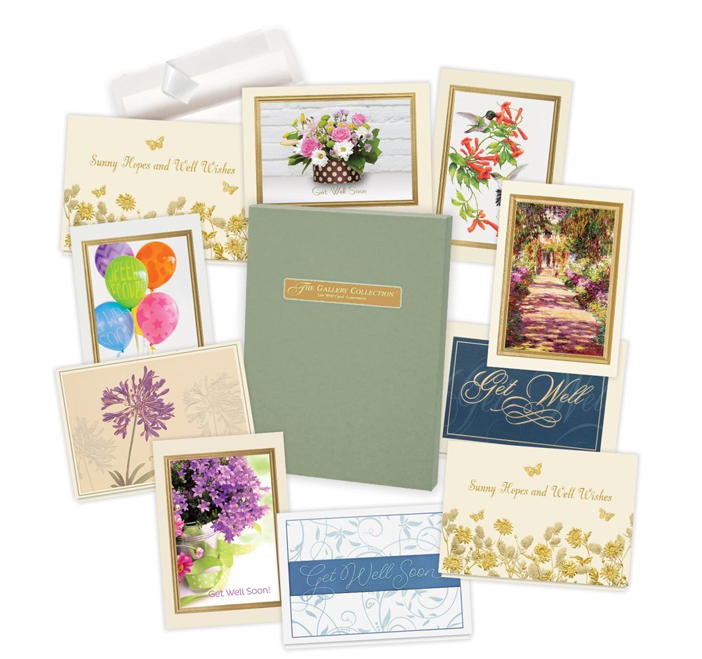 Amazon Get Well Cards Assortment Box 35 High Quality Cards