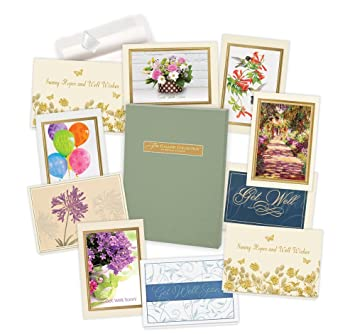 Amazon get well cards assortment box 35 high quality cards get well cards assortment box 35 high quality cards and 38 envelopes m4hsunfo