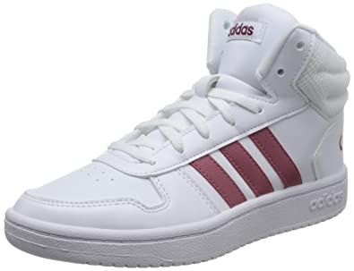 separation shoes fb266 5b90f adidas Womens Hoops 2.0 Mid Fitness Shoes, White (Blanco 000) 5.5 UK