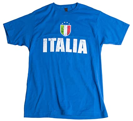 Ann Arbor T-shirt Company «Italia» - La Azzurra Camiseta Unisex de fútbol