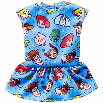 Barbie Clothes: Disney and Pixar Toy Story 4 Character Top Dolls, Blue with Multi-Character Graphic and Peplum, Gift for 3 to 7 Year Olds: Toys & Games