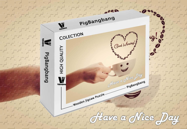 驚きの値段で PigBangbang,Photomosaic X Basswood in - a Box Day - Have A Nice Day コーヒータイム - 1500ピースジグソーパズル (34.4 X 22.6インチ) B07HYB9F2H, オリエントストア:a84d46bd --- sinefi.org.br