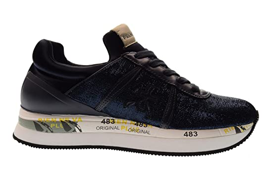 b7791df422 Amazon.com | Premiata Shoes Woman Low Sneakers Liz 3002 Size 40 Blue |  Fashion Sneakers