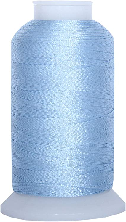 Sky Blue No 220 Colors Available 1000M Threadart Polyester Machine Embroidery Thread By the Spool 1027