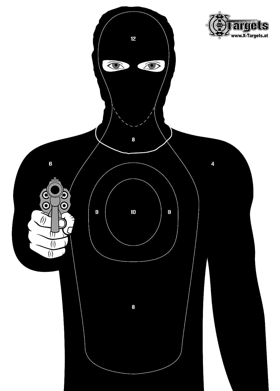 Large Target Criminal Target/50x 70cm Paper 120g/m² X-Targets