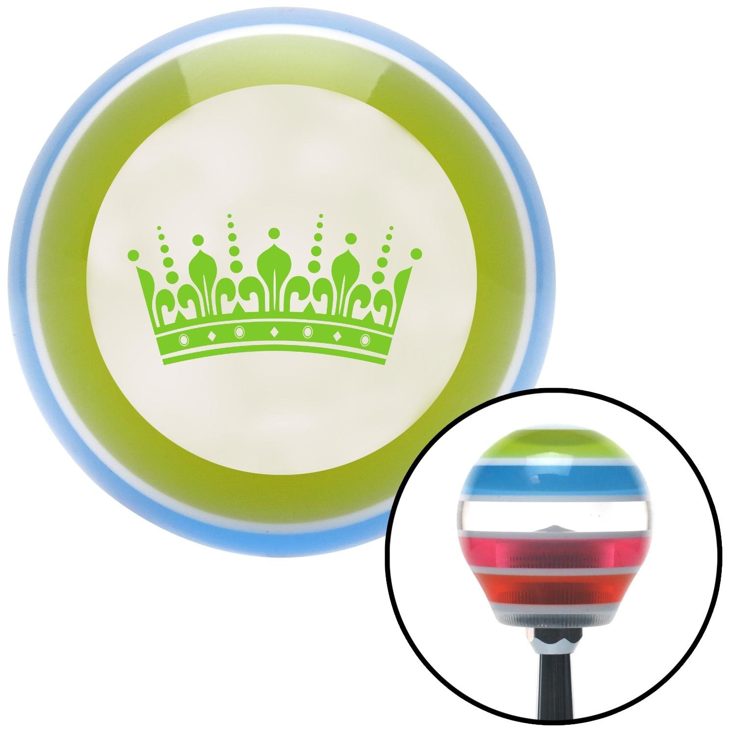 American Shifter 132148 Stripe Shift Knob with M16 x 1.5 Insert Green Kings Crown