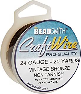 Amazon.com: Beadsmith Antique Brass Color Copper Craft Wire 26 ...