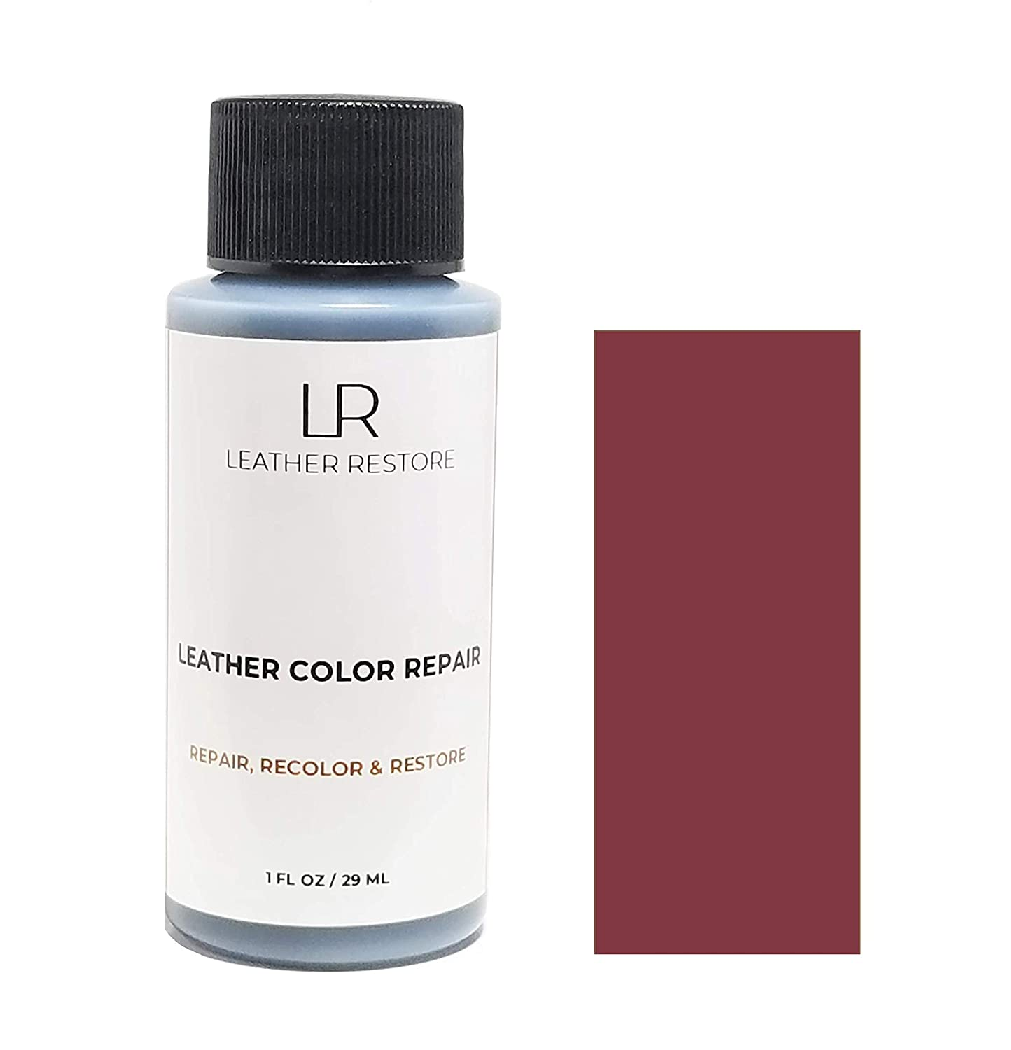Leather Restore Leather Color Repair, Burgundy 1 OZ - Repair, Recolor and Restore Couch, Furniture, Auto Interior, Car Seats, Vinyl and Shoes