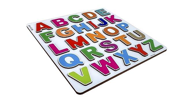Cryo Craft Wooden Alphabet Puzzle Board (29 x 29 x 0.9 cm)