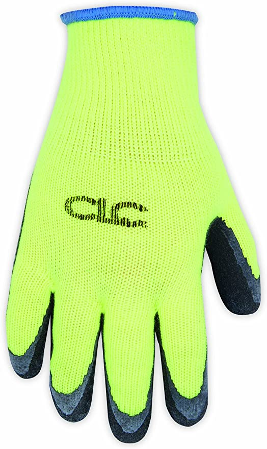 CLC Custom Leathercraft 2339L Hi-Viz Cold Weather Latex Dip Glove Large