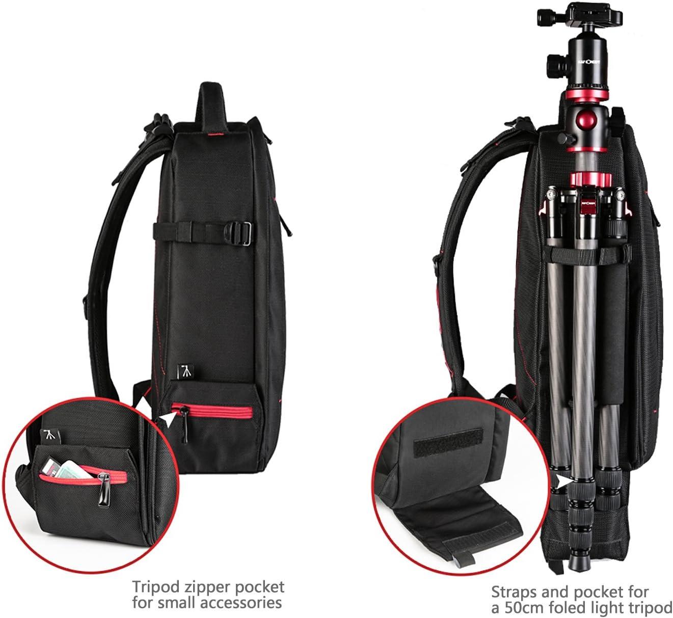 wasserdichte Kameratasche f/ür Sony Canon Nikon Olympus SLR//DSLR Kamera Beschoi DSLR Kamera-Rucksack gro/ß . Objektiv und Zubeh/ör schwarz
