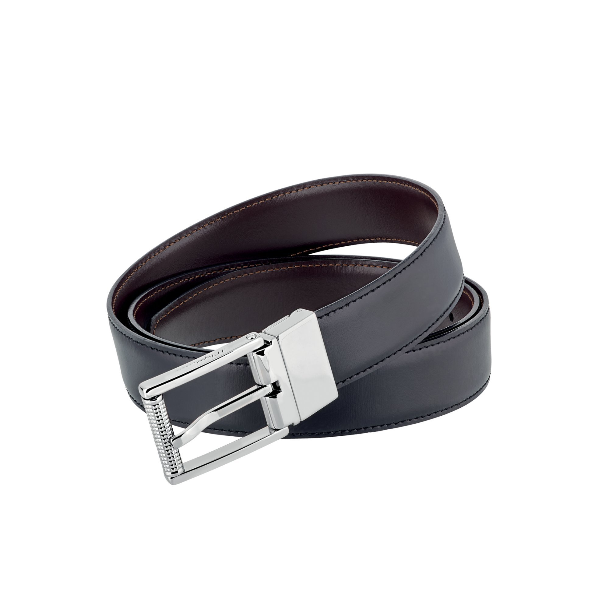 S.T. Dupont 9550120 Palladium Finish Auto-Reversible Business Belt
