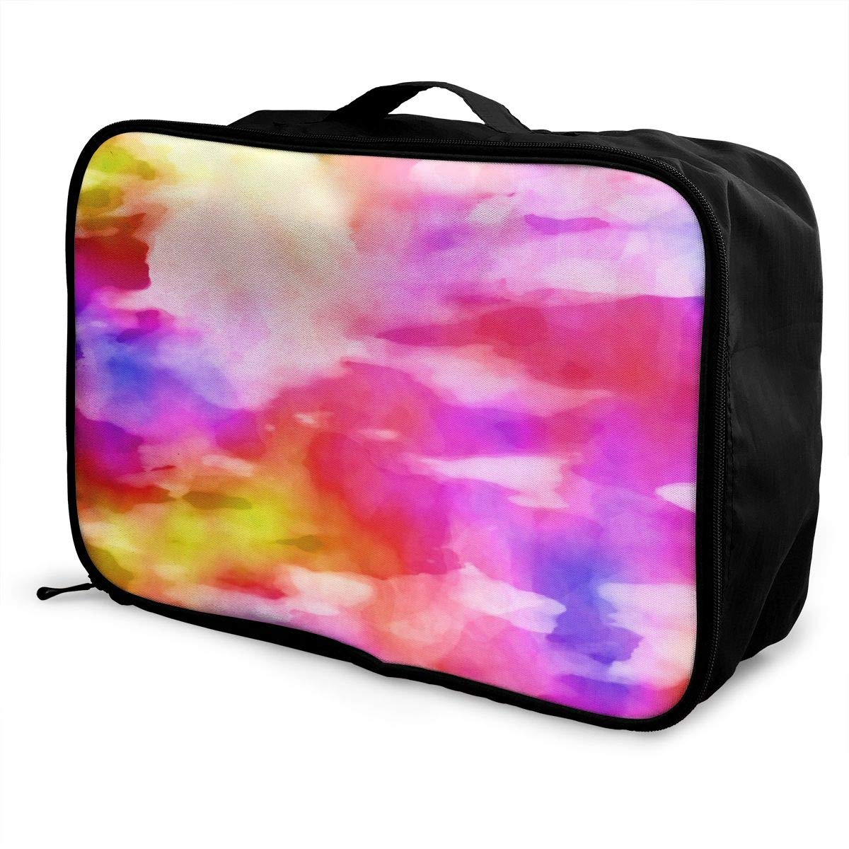 Graffiti Abstract Art Watercolor Travel Lightweight Waterproof Foldable Storage Carry Luggage Large Capacity Portable Luggage Bag Duffel Bag