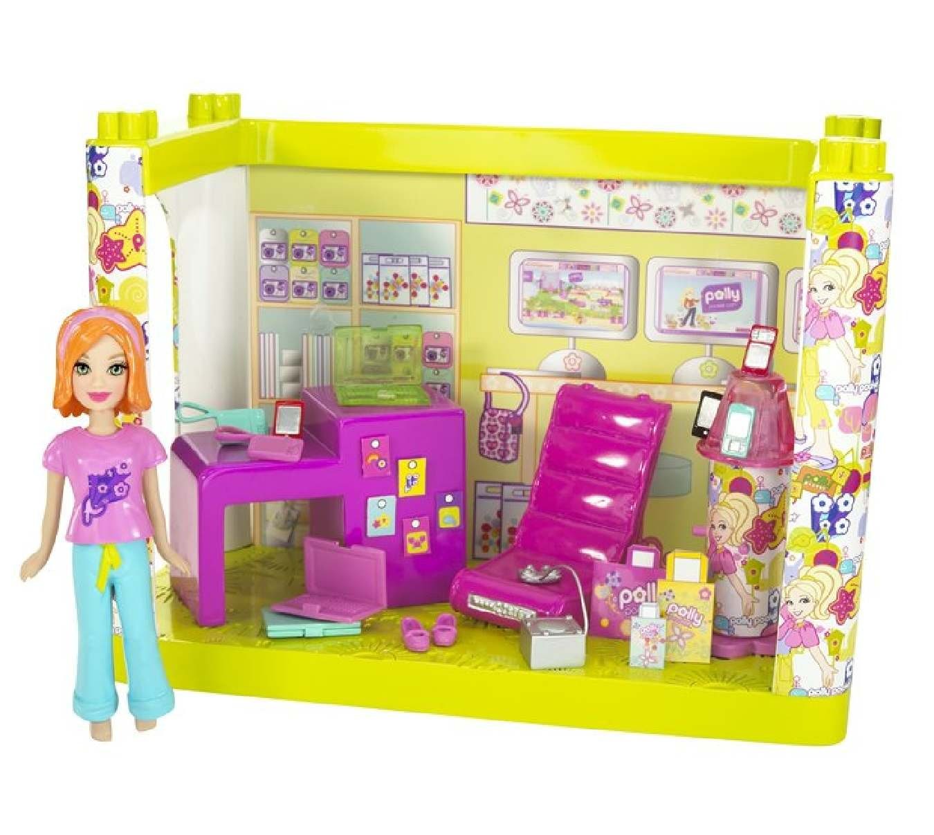 Polly Pocket Designables Mix 'n' Match Electronics Shop Lea Doll