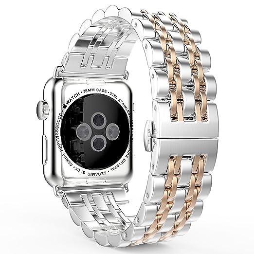 17 opinioni per MoKo Cinturino per Apple Watch 42mm, Braccialetto in Acciaio Inossidabile con