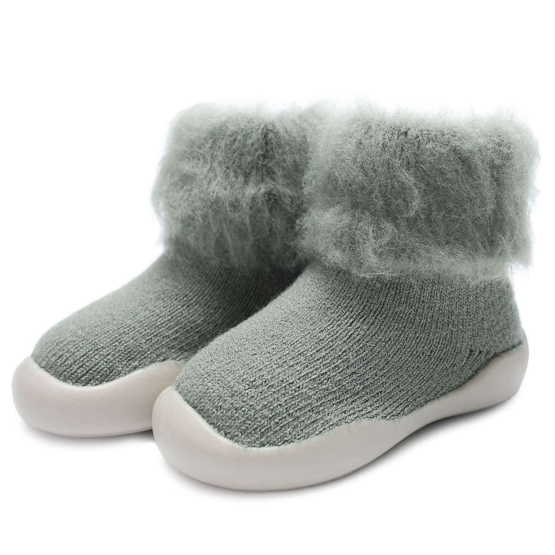 Adorel Baby Anti Slip Socks Warm Winter Thick Fuzzy
