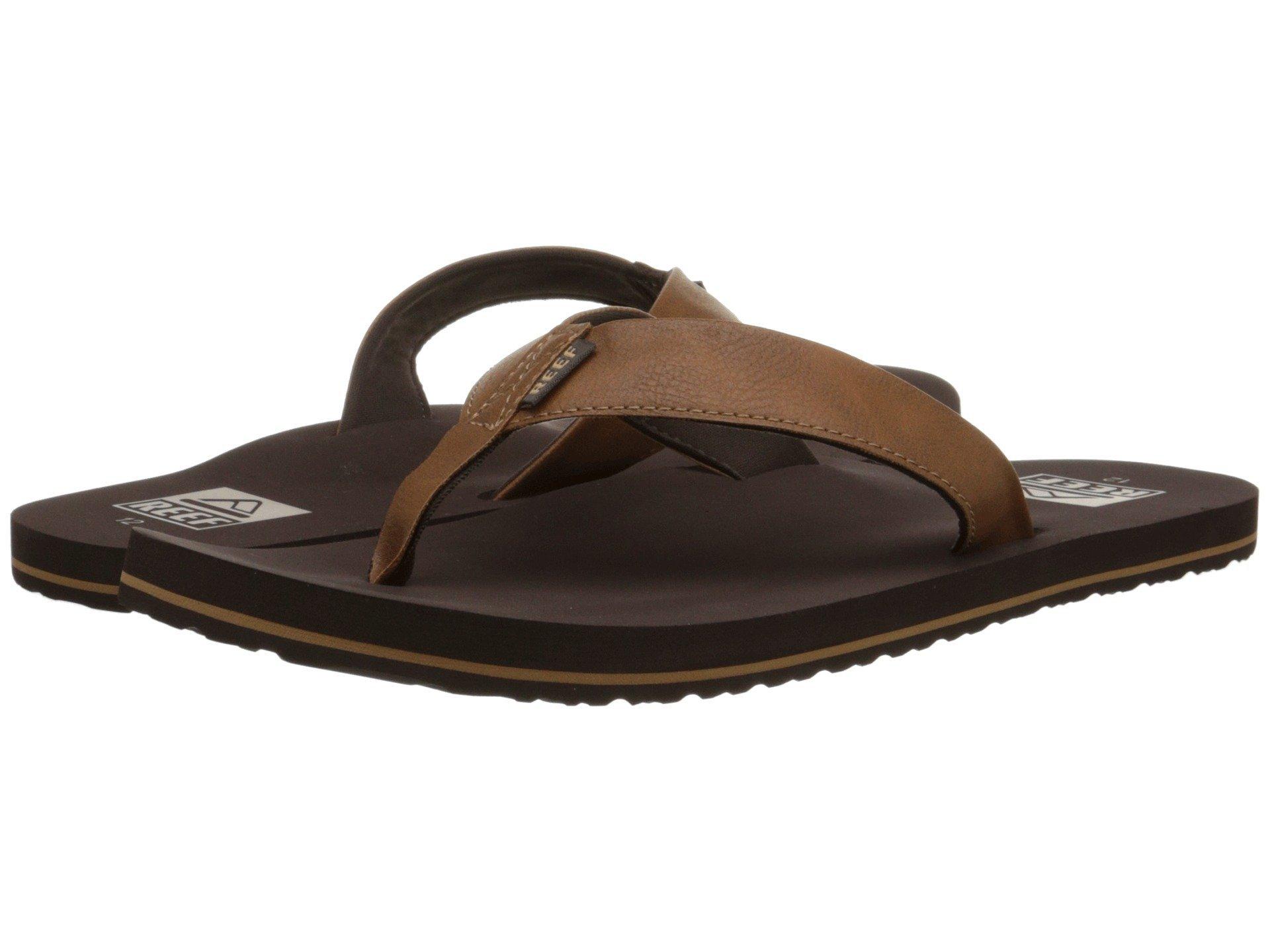 Reef Men's Twinpin Sandal, Brown, 10 M US