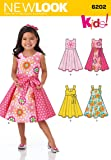 New Look Sewing Pattern 6202 - Child's Dress and Sash Sizes: A (3-4-5-6-7-8) by New Look