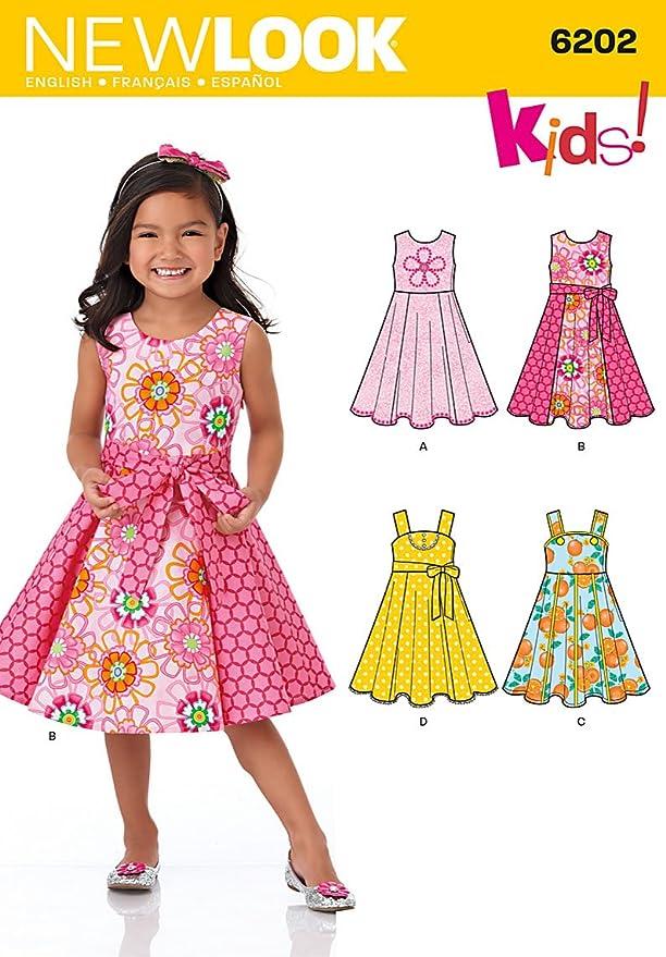 New Look Schnittmuster Nr. 6176, Kinderkleider und Schärpe ...