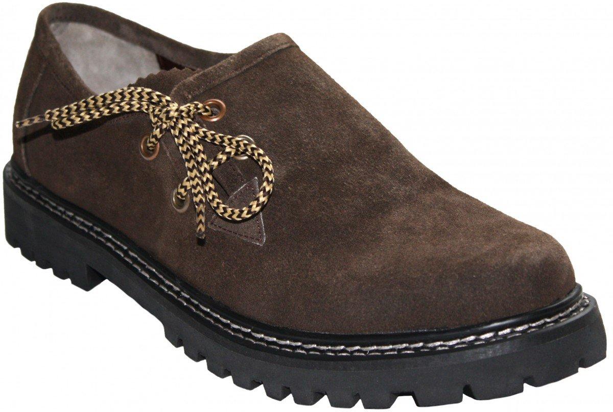 TALLA 41 EU. German Waer Zapatos Haferl Disfraces Trajes Zapatos de Cuero de Gamuza Brown