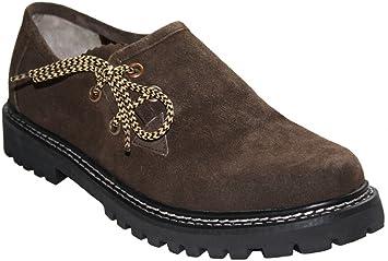 Zapatos Haferl disfraces trajes zapatos de cuero de gamuza Brown (45) ja5cmd9