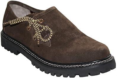 Haferlschuhe Trachtenschuhe Trachten Lederschuhe Schuhe aus Wildleder Braun