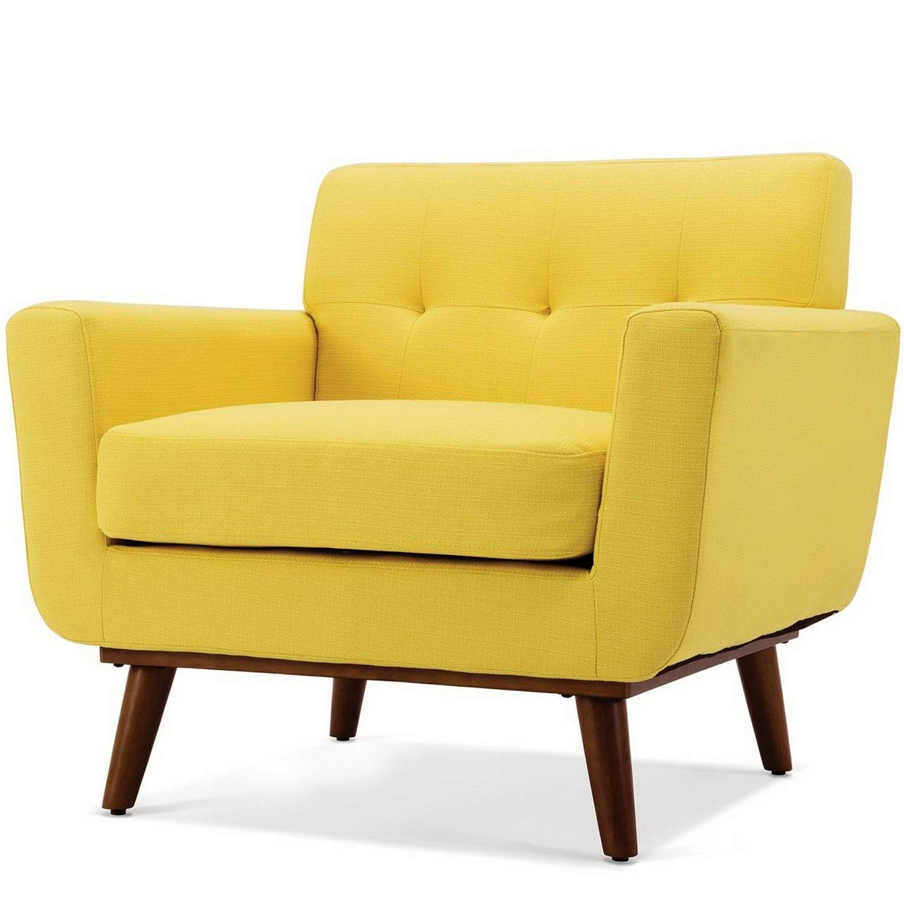 Amazon.com: Hebel Mid-Century Isaiah Upholstered Accent Arm Living Room Chair | Model CCNTCHR - 476 |: Kitchen & Dining