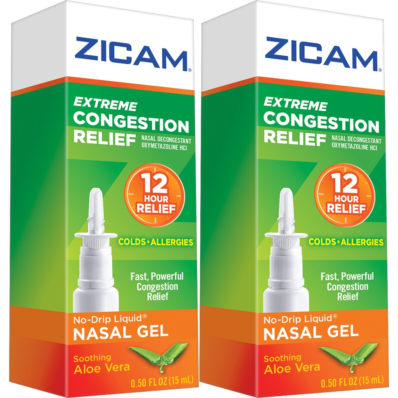 Zicam Extreme Congestion Relief Nasal Spray, 0.5oz. Bottles (Pack of 2), Fast Powerful Relief for Nasal Congestion from Colds or Allergies