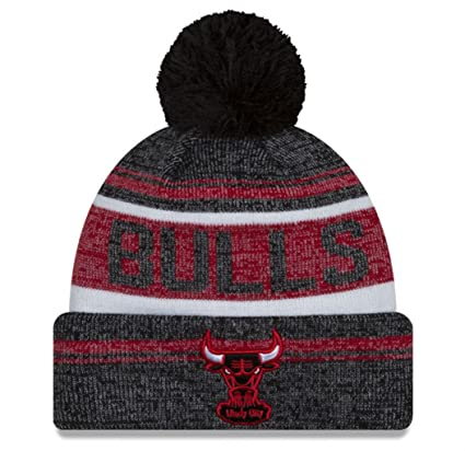 reputable site 74e29 80108 Image Unavailable. Image not available for. Color  New Era Chicago Bulls  Windy City Adult Snow Dayz Knit Beanie ...