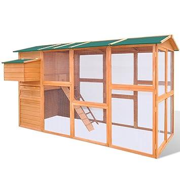 Jaula de Pollo de Exterior Casa de Gallina Espacio Amplio Madera: Amazon.es: Productos para mascotas