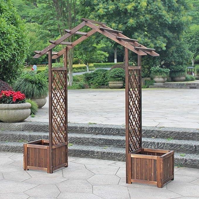 HLZY Muebles de jardín Arco Decoración jardín de Madera Arbor ...