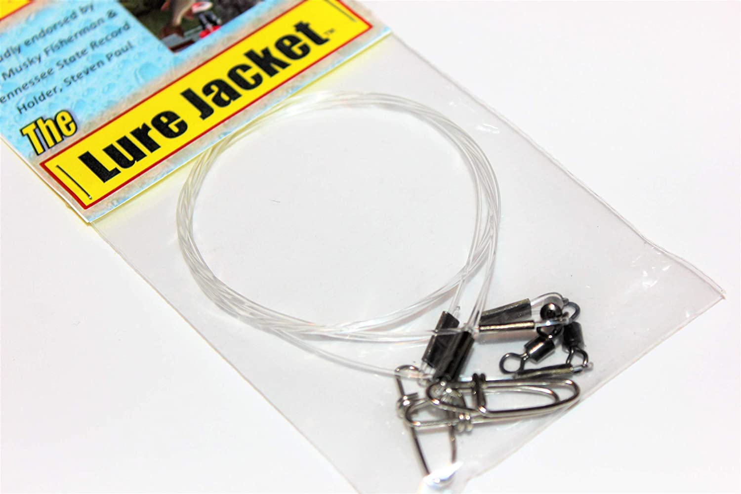 3-Pack 18 L 100# Fluorocarbon Leaders for Pike /& Musky Fishing