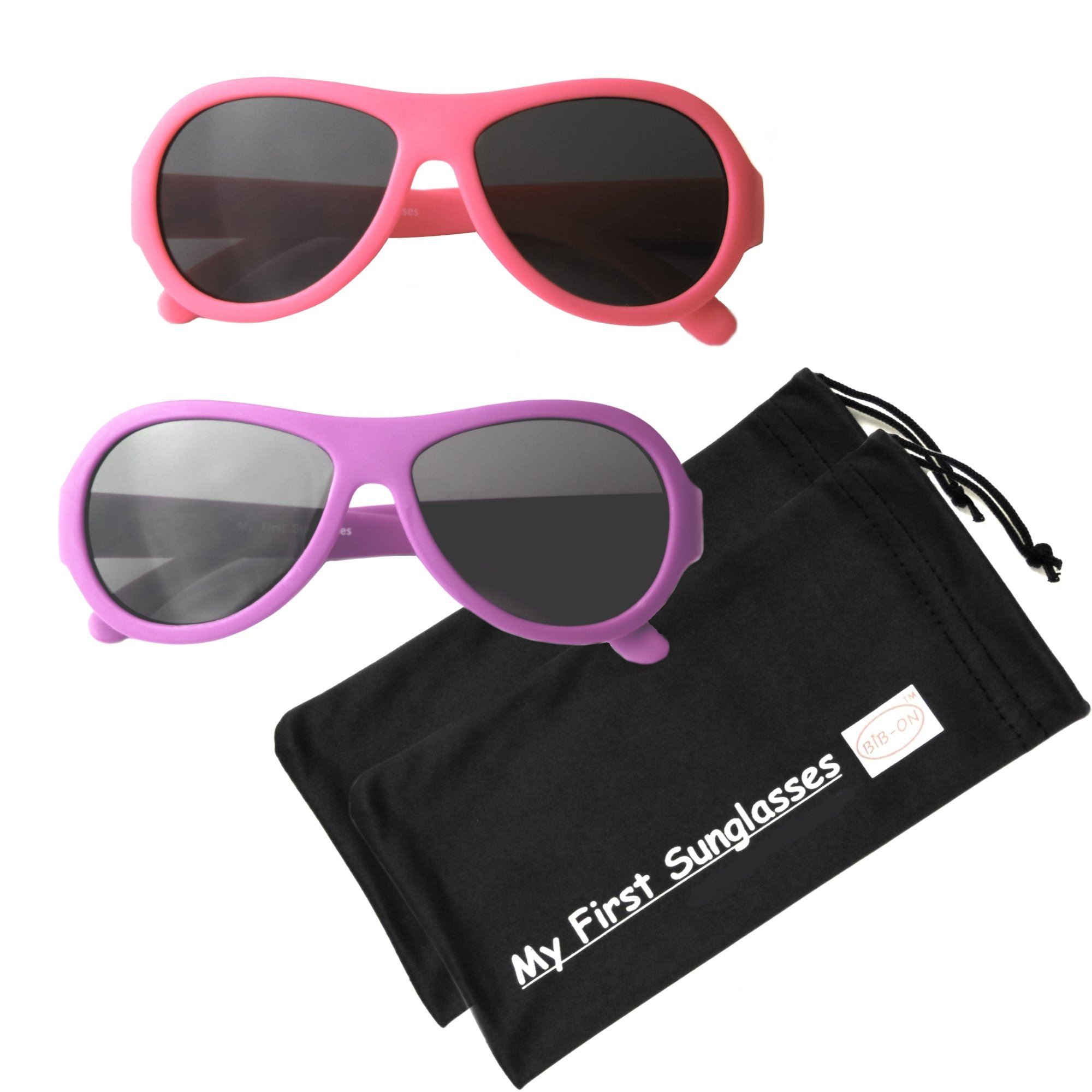 MFS- Baby Aviators 110mm - Hot Pink and Fuchsia 2 Pack by BIB-ON