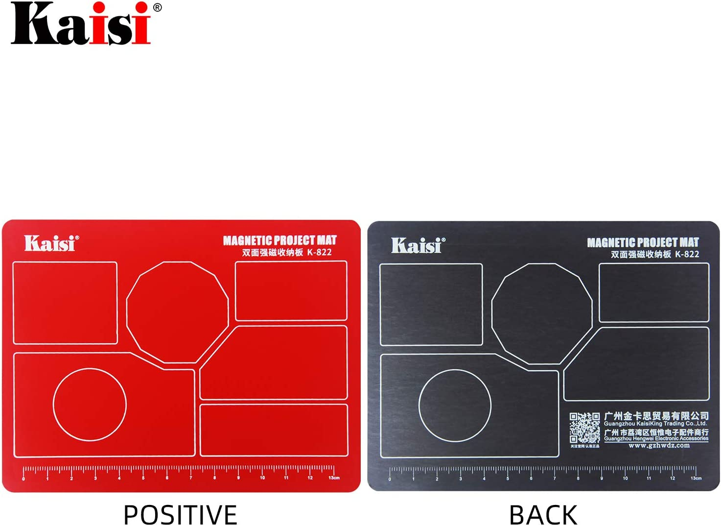 Effectively Prevent Small Screws from Being Lost and Messed up Kaisi Single-Sided Magnetic Small Parts Work mat