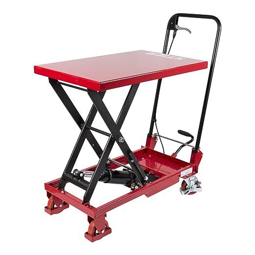 Toro de tijeras Hub mesa carro con plancha plegable (150 kg de ...