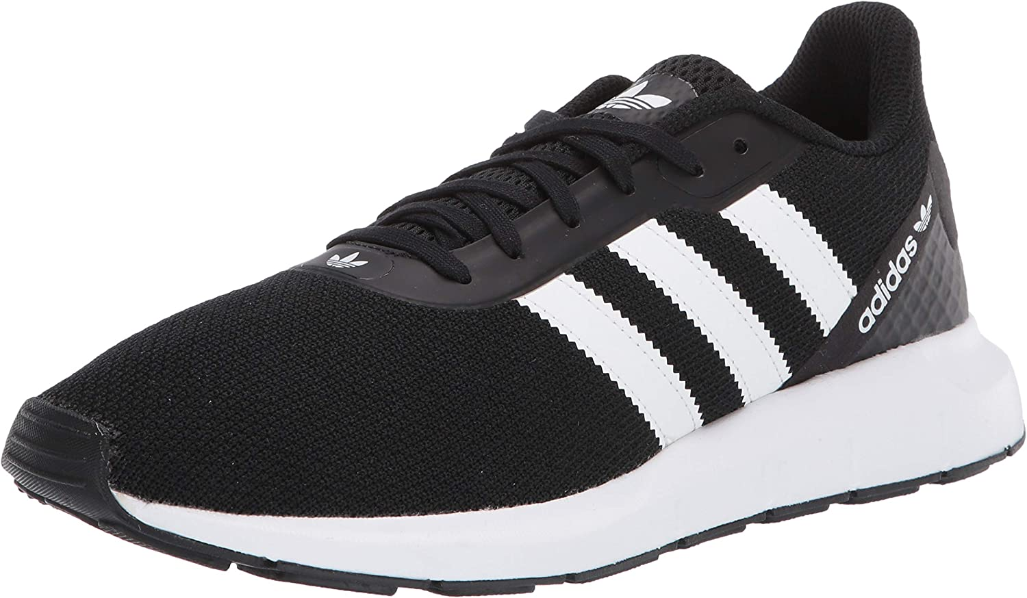 adidas Originals Swift Run RF J White//Black Textile Youth Trainers Shoes