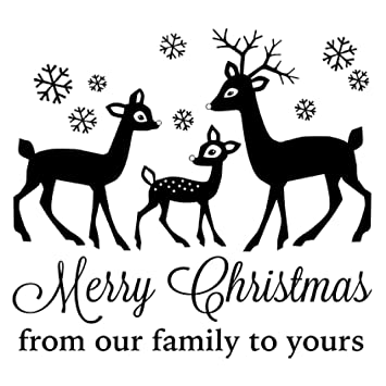gourmet rubber stamps cling stamps 65x325 merry christmas from our family to