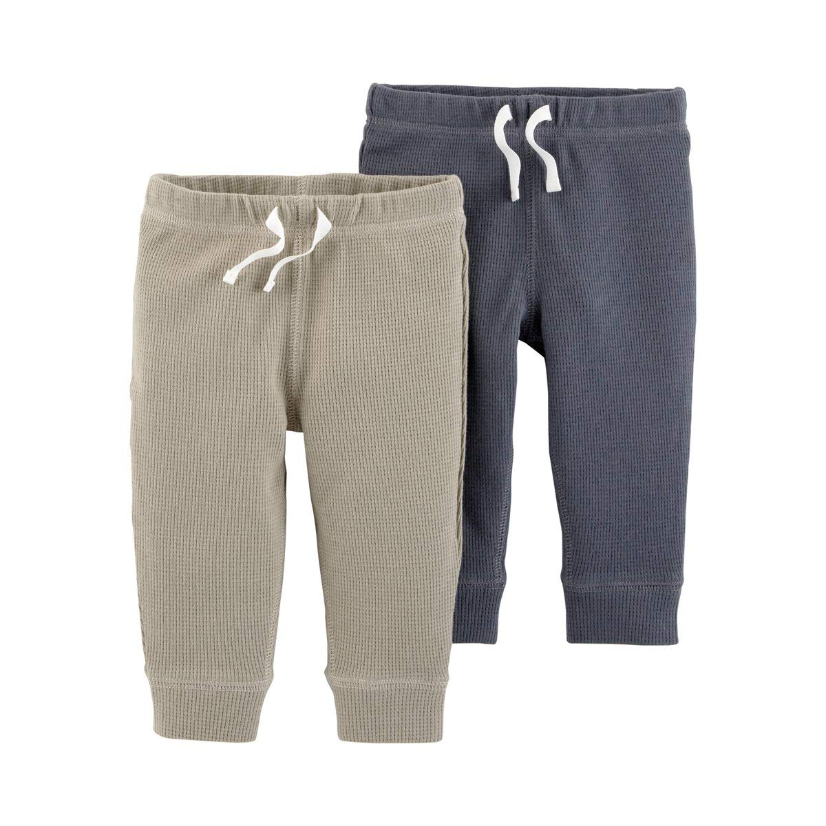 Brown 12 Months Carters Baby Boys Pull-On Pants