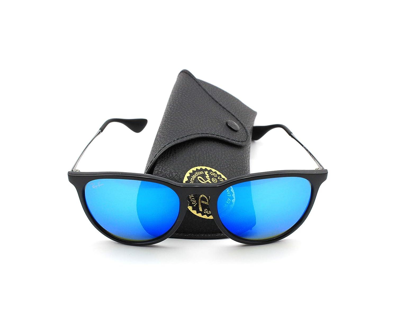 b4ed8bef4bf Amazon.com  Ray-Ban RB4171 601 55 Erica Sunglasses Black Frame   Blue Mirror  Lens  Clothing