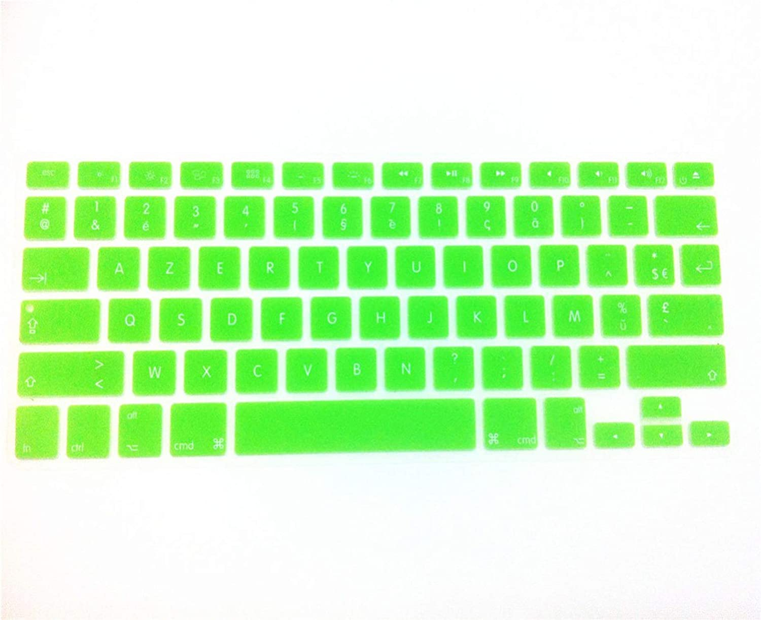 French Silicone US Keyboard Cover Skin Cover Protective Film Protector for MacBook Pro Air with Retina 13 15 1,Green